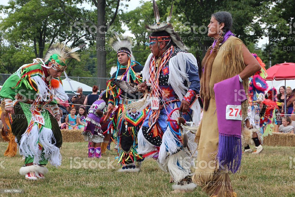 Native Americans at annual pow-wow stock photo