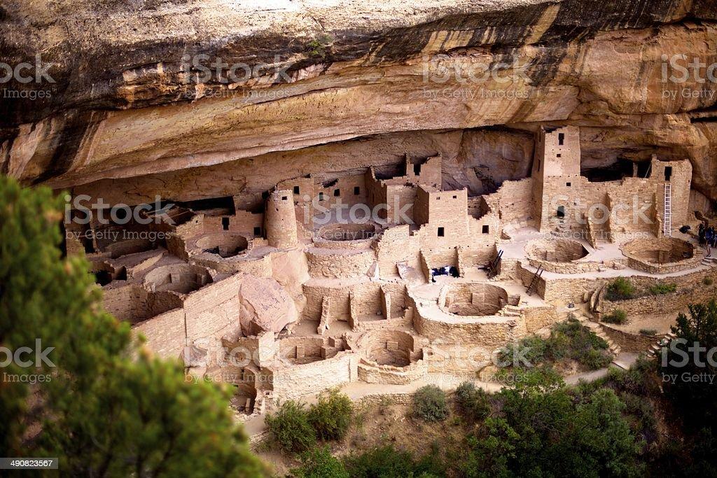 Native Anasazi cliff dwellings stock photo