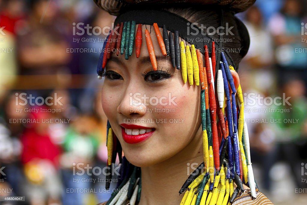 Native asian woman royalty-free stock photo