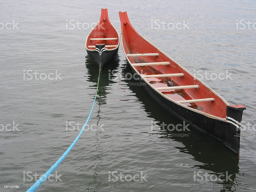 Native Canoes stock photo