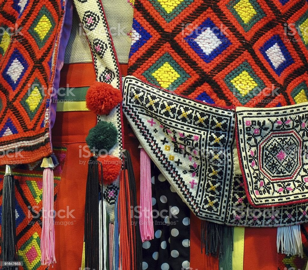 Native Costume Detail royalty-free stock photo
