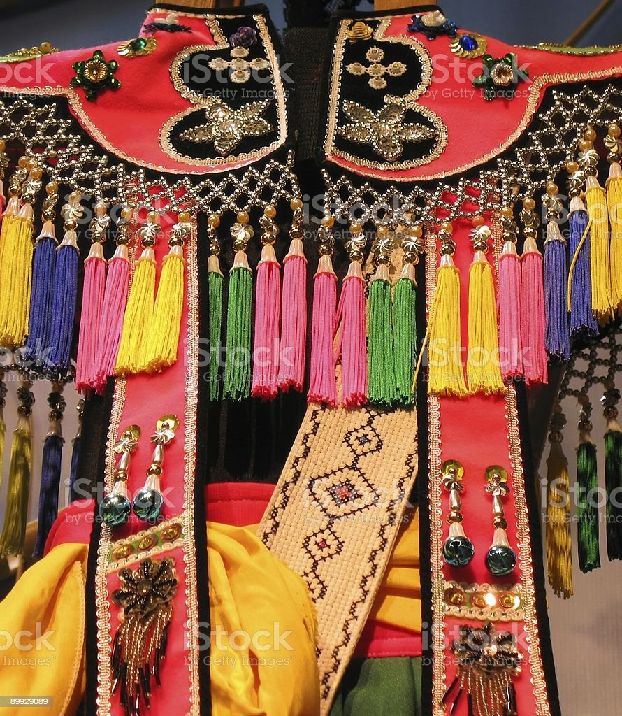 Native Dress Ornaments royalty-free stock photo