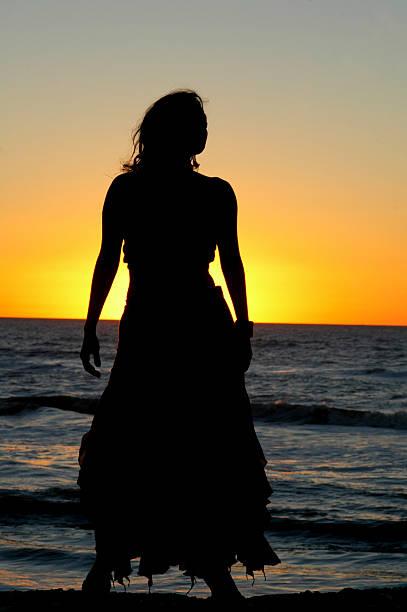Native Islander on Sunset stock photo