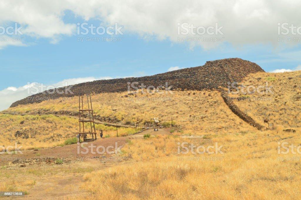 Native Settlement In Hawaii. stock photo