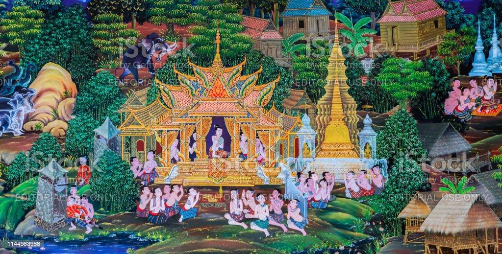 Photo Libre De Droit De Peinture Murale Bouddhiste Native