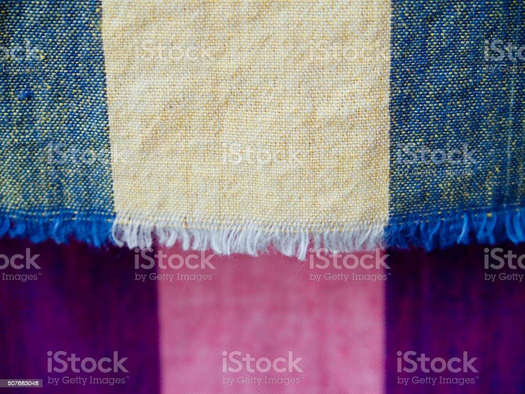Native Thai fabric stock photo