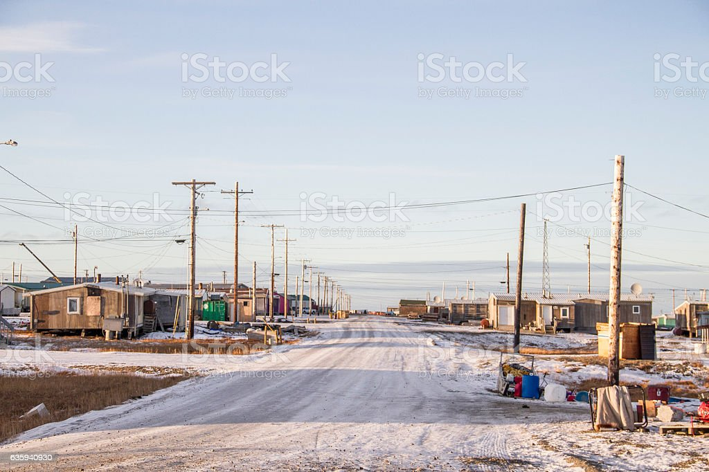 Native Village of Kaktovik stock photo