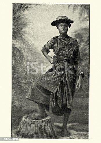 istock Native woman of Martinique 19th Century 696570884