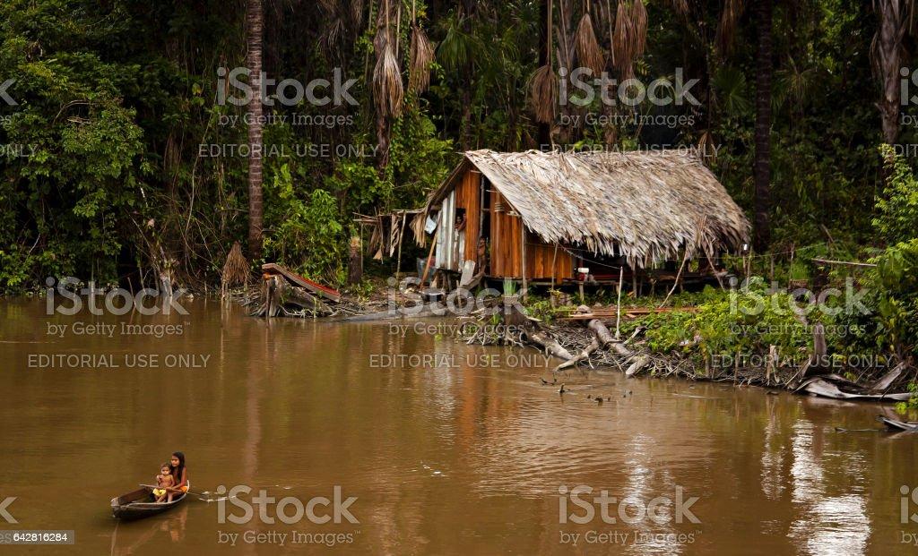 Natives of the Amazon stock photo