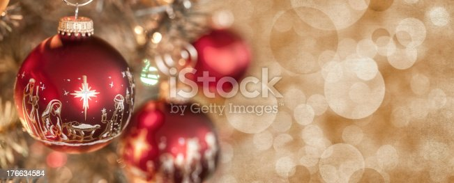 Nativity Christmas Baubles