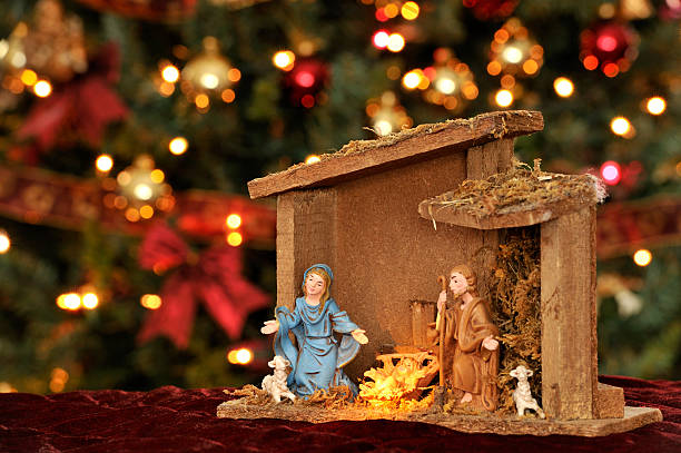 nativity christmas ornaments and lighting religious decoration stock photo istock