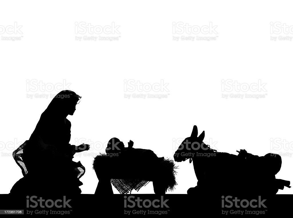 Nativity (fotografiado Silueta foto de stock libre de derechos
