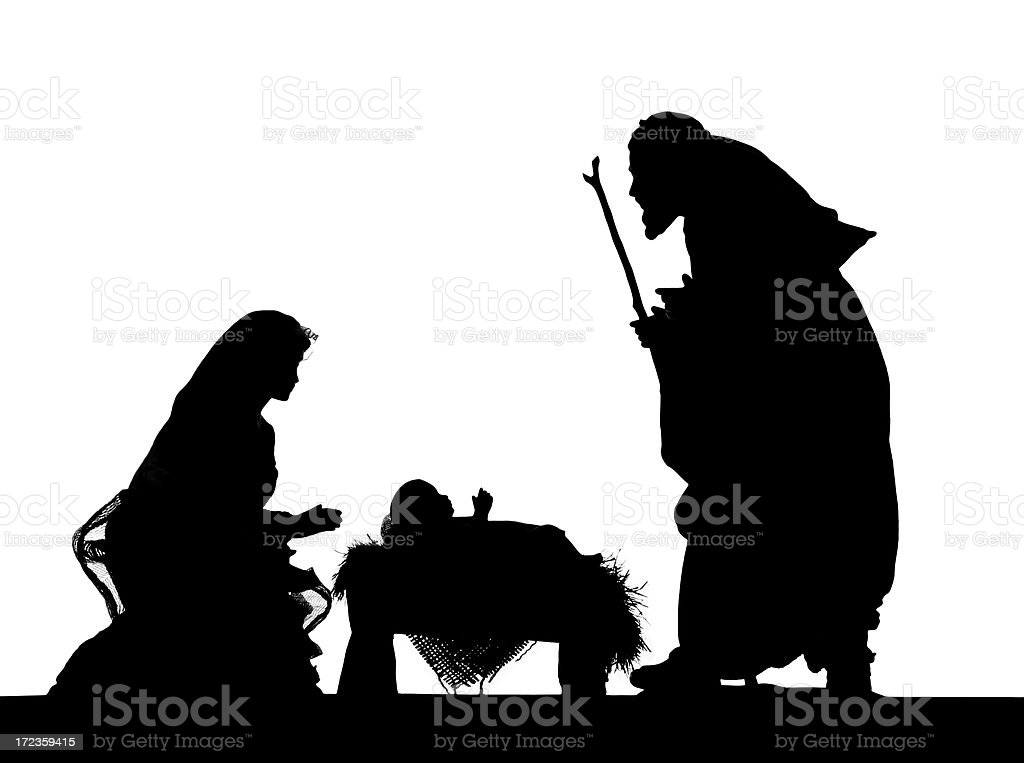 Nativity (photographed Silhouette) royalty-free stock photo