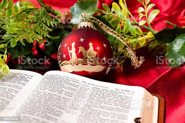 Nativity red christmas ornament open bible garland st luke picture id184348281?b=1&k=6&m=184348281&s=612x612&h=mnfxud7ecvogpaiumk3pqnanfjqlugnq78swvkoshqc=