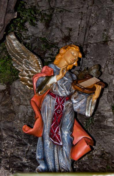 nativity scene. angel. xmas 2016, france - batalina madonna стоковые фото и изображения