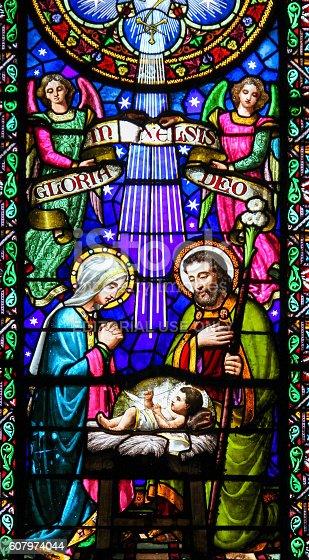 istock Nativity Scene at Christmas in Montserrat Abbey 607974044