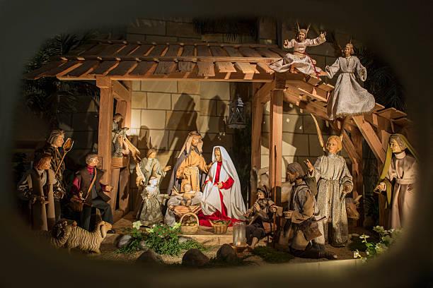 Royalty Free Christmas Nativity Scene Crib Bethlehem