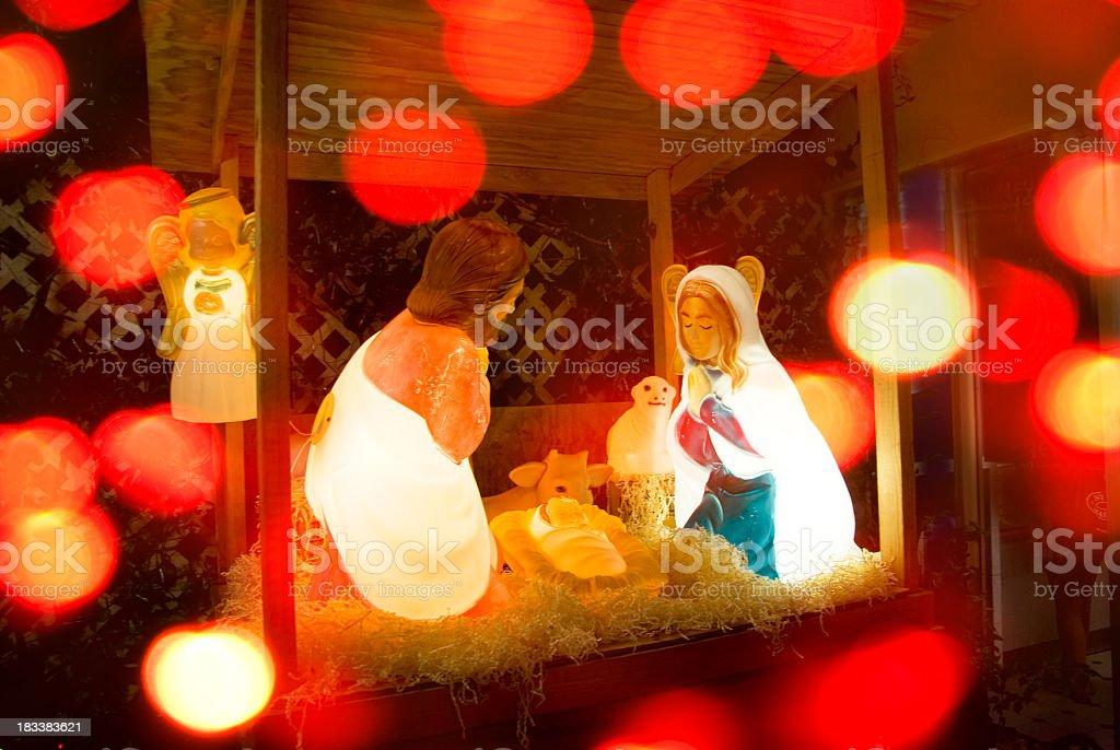 nativity scene glow christmas concept royalty-free stock photo