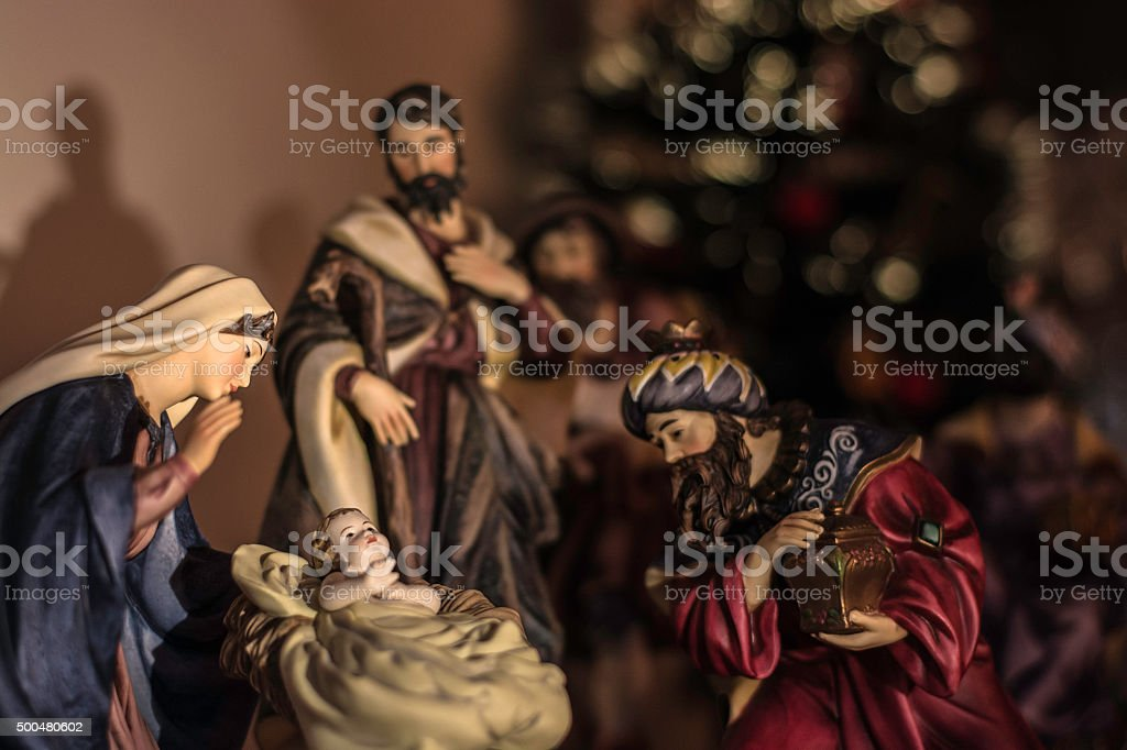 Nativity scene I stock photo