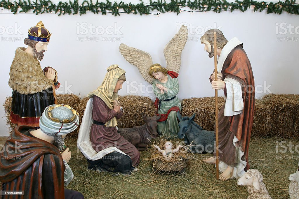 Crèche de Noël dans le Bethlehem Peace Center - Photo