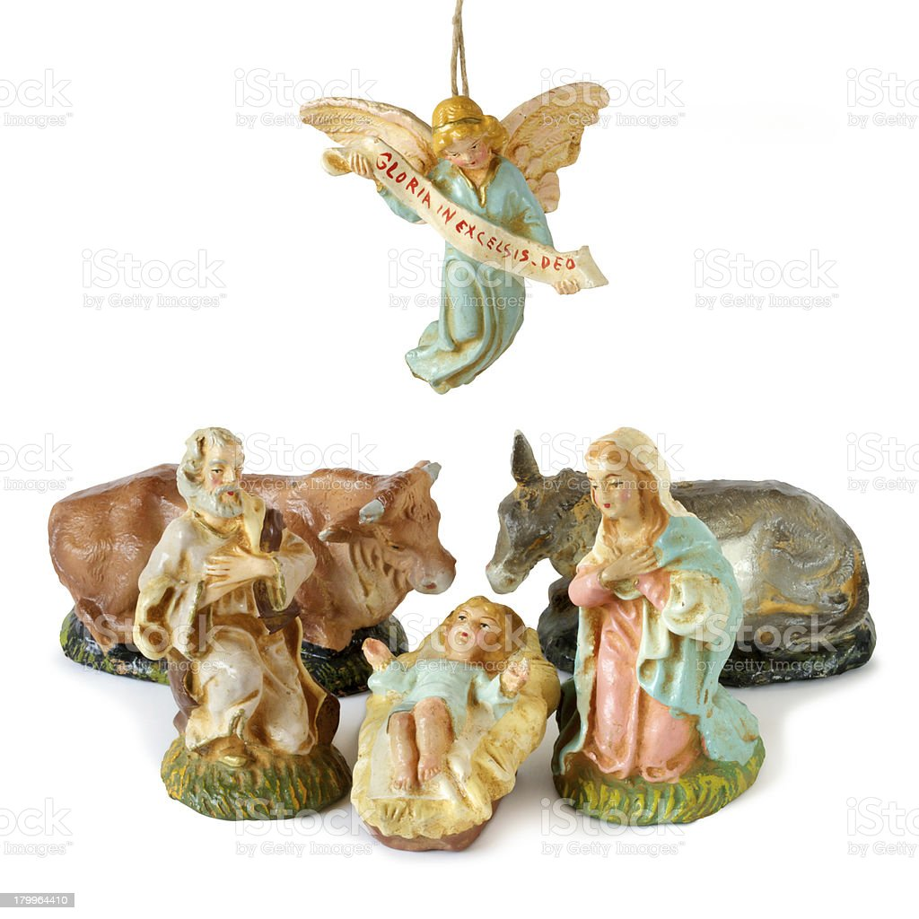 Nativity scene. Includes clipping path royalty-free stock photo