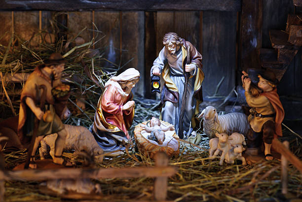 nativity scene - nativity scene stock pictures, royalty-free photos & images