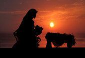 istock Nativity Scene (Photographed Silhouette) 173010420