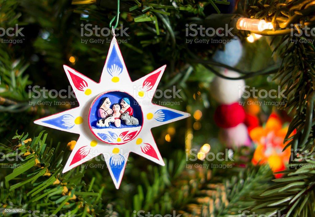 Nativity Star Christmas Tree Decoration Ornament stock photo