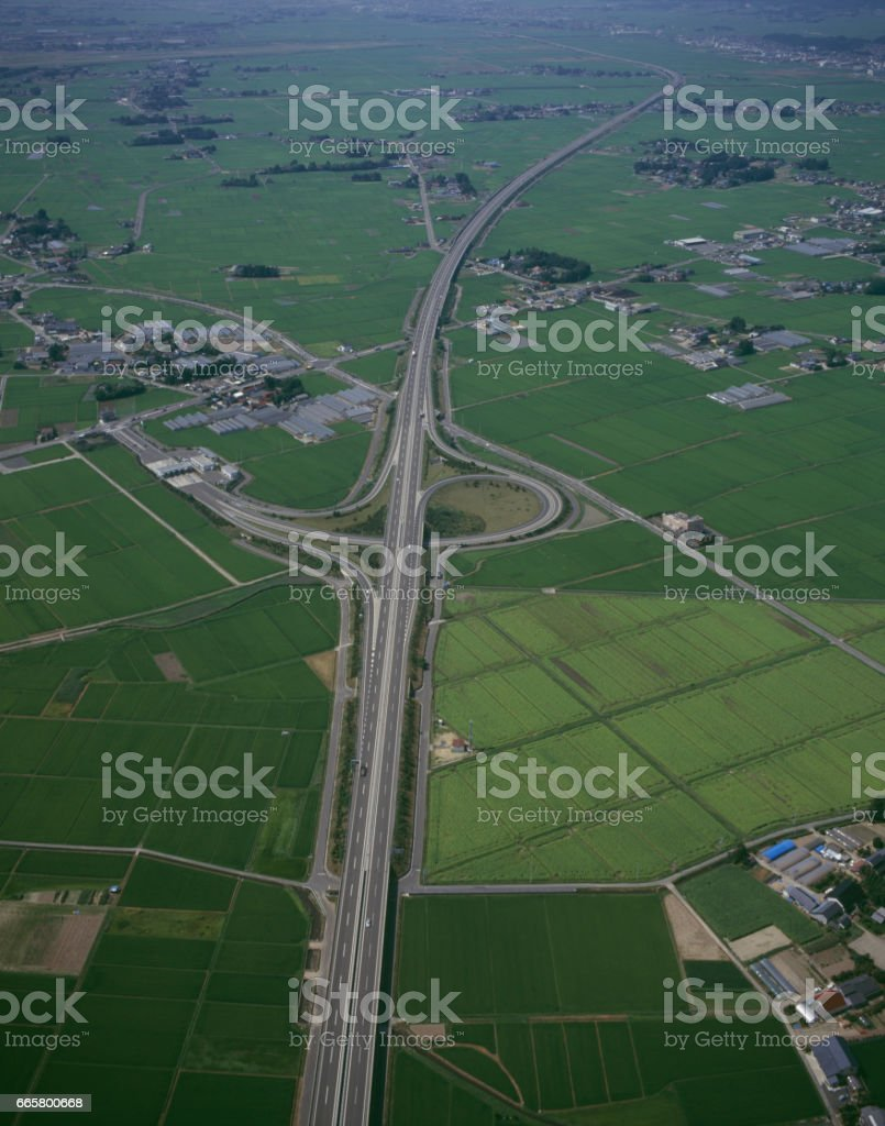 Natori interchange stock photo