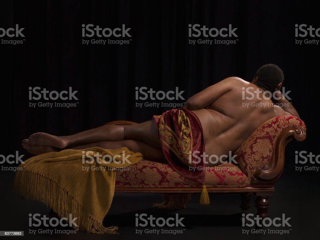 Invecchiamento naturale del corpo maschile foto stock royalty-free