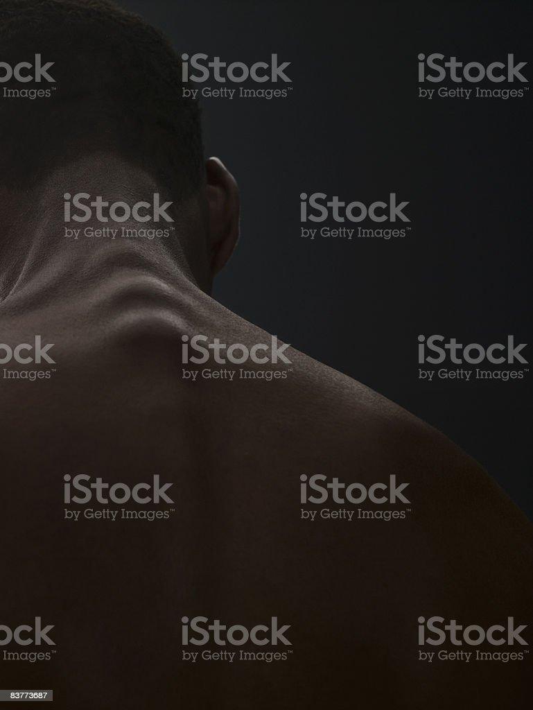 Vieillissement naturel du corps homme photo libre de droits