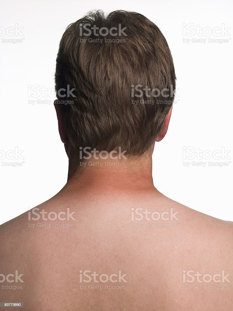 natural aging male body royalty free stockfoto