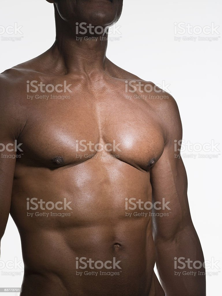 natural aging male body royalty-free stock photo