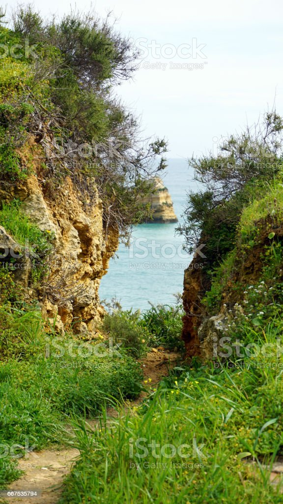 natural algarve coast foto stock royalty-free