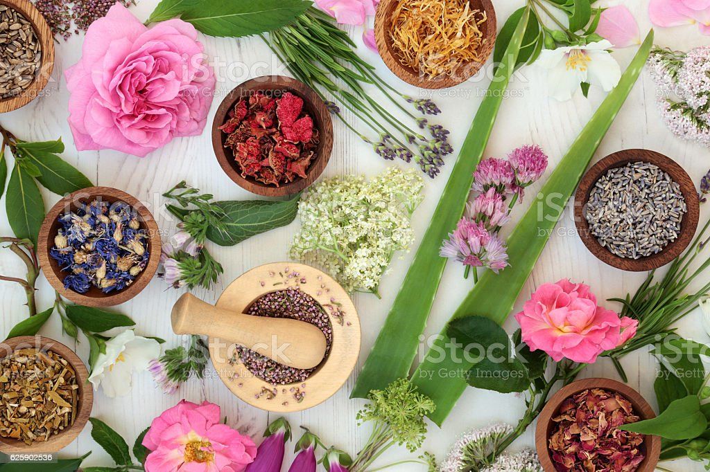 Natural Alternative Medicine stock photo