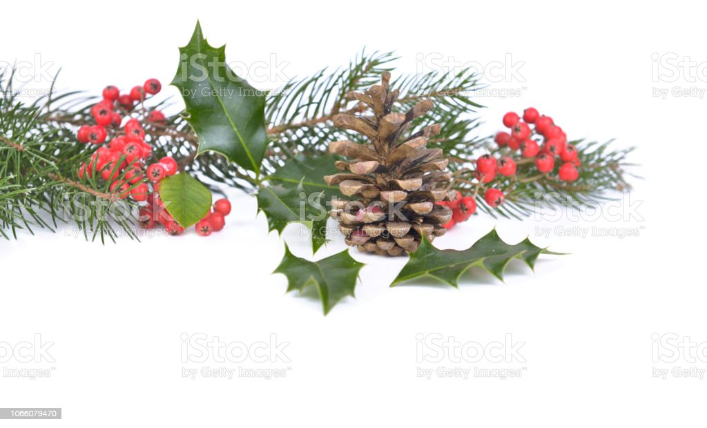 Natural And Traditional Christmas Decoration Stock Photo Download