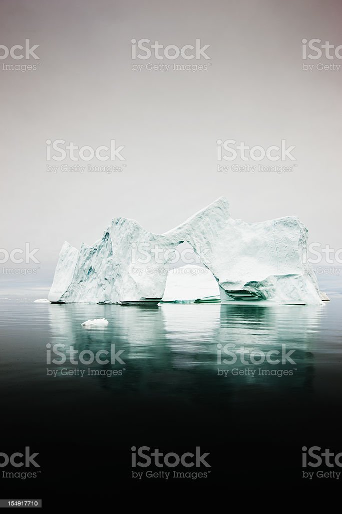 Natural Arch Arctic Icebergs North Pole royalty-free stock photo