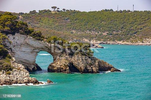 Architello rock near Vieste, Gargano National park, Puglia, Italy