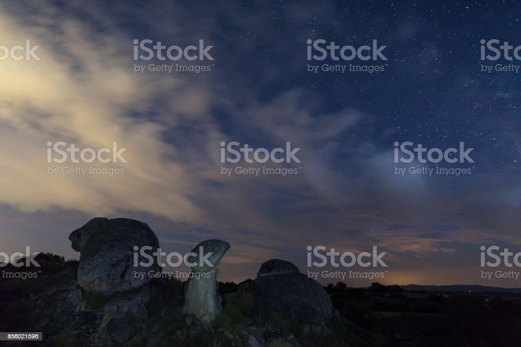 Natural Area of Barruecos stock photo