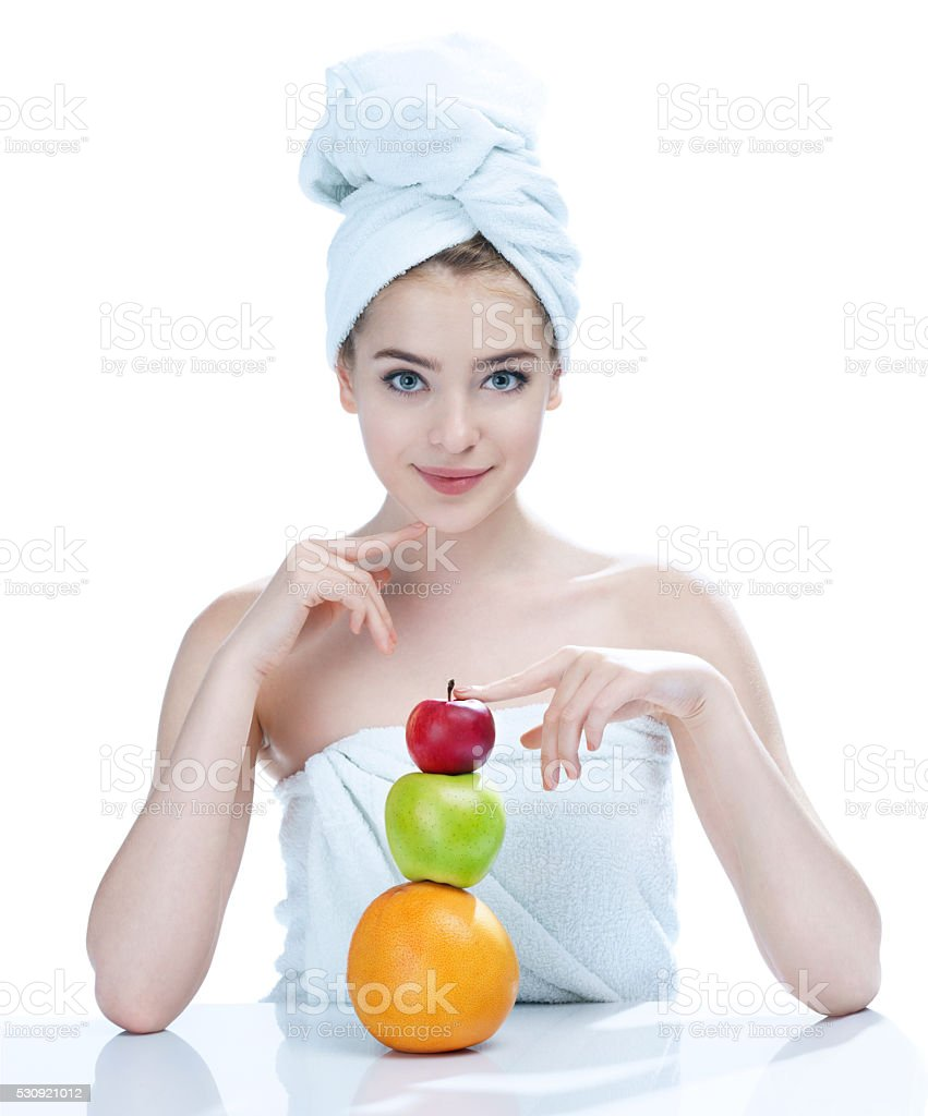 Natural as she is - fresh and beautiful stock photo