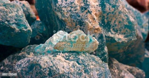 istock natural background - pile of semi precious jewelery stones closeup. 885125548