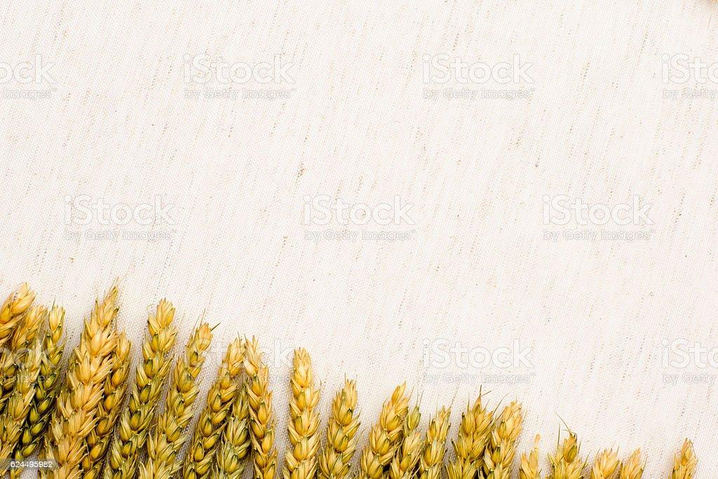 Foto De Natural Background Wheat And Linen Fabric E Mais Fotos De Stock De Abstrato Istock