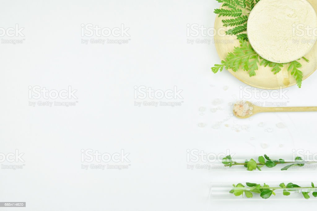 Natural background with copy space for beauty product, Organic beauty cosmetics product concept. foto de stock royalty-free