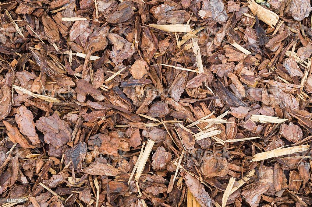 Natürliche Rinde als Boden bedecken für Laubdecke – Foto