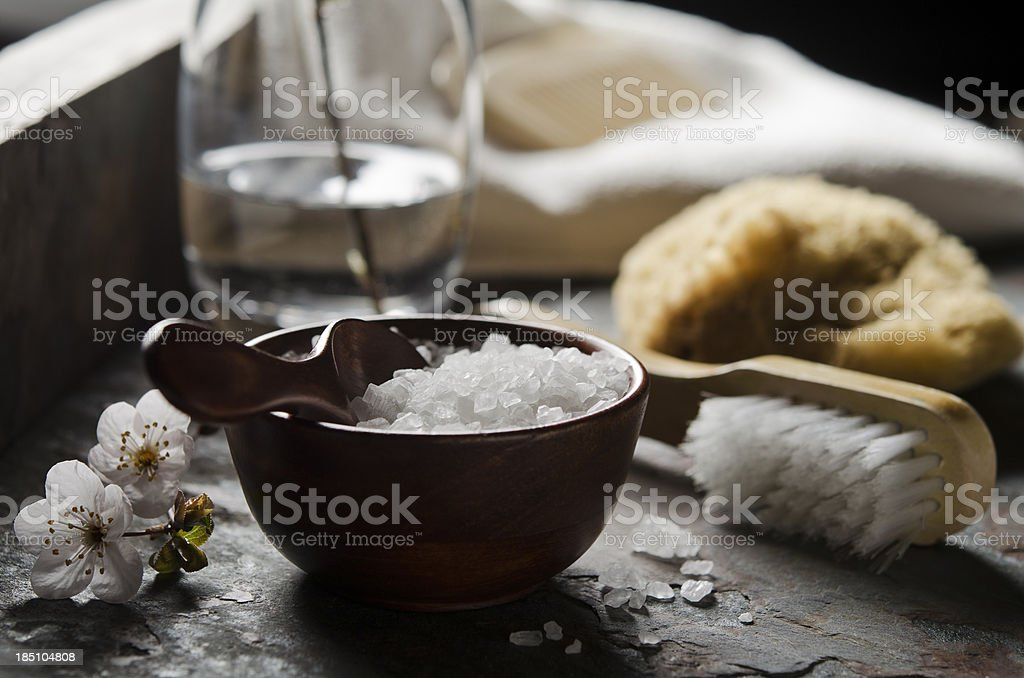 Natural Bath Accessories stock photo
