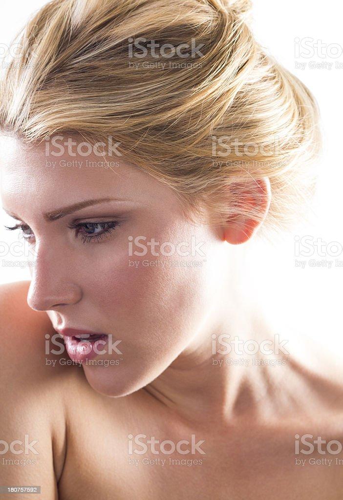 Natural Beautiful Young Girl stock photo