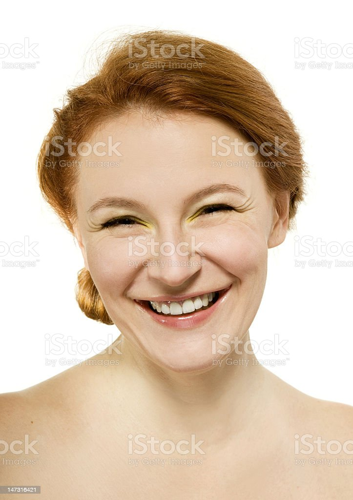 natural beauty adult happy smiling woman royalty-free stock photo