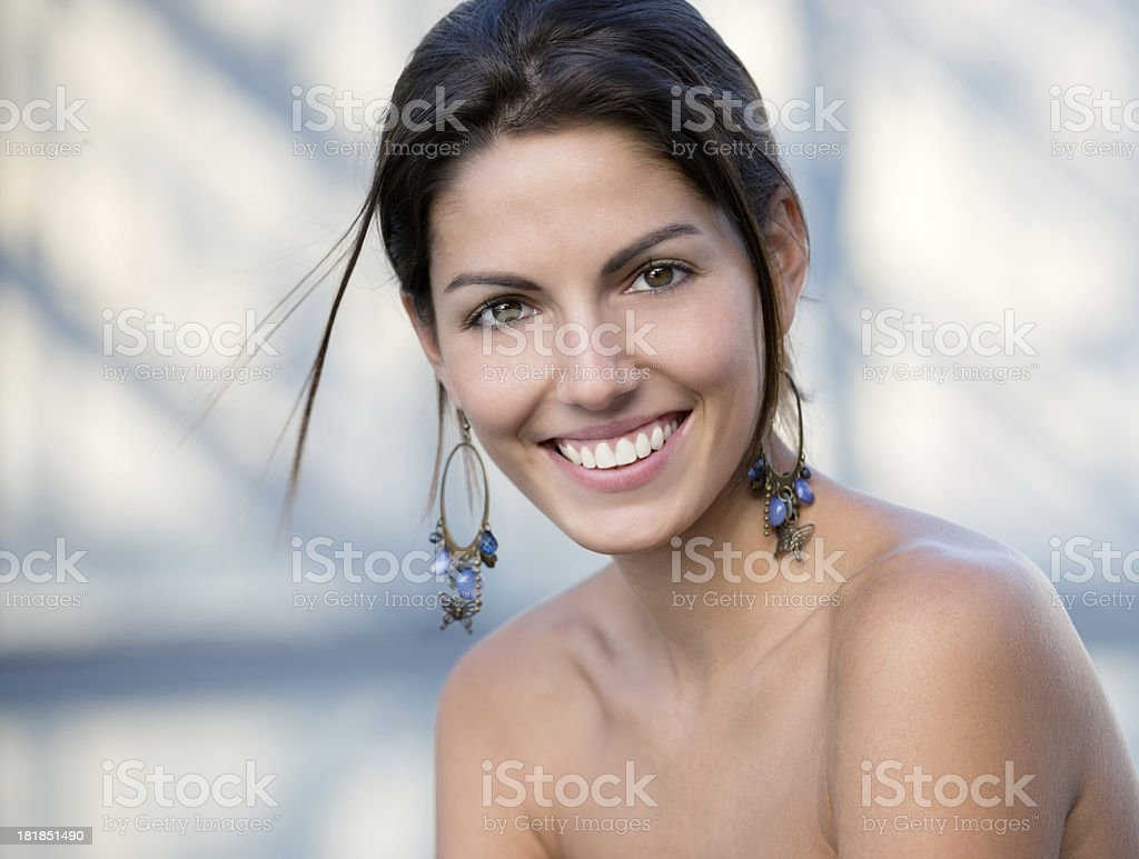 Natural Beauty, Candid Portrait royalty-free stock photo