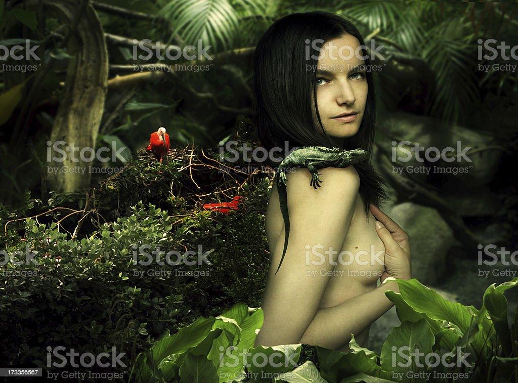 Natural beauty fantasy stock photo