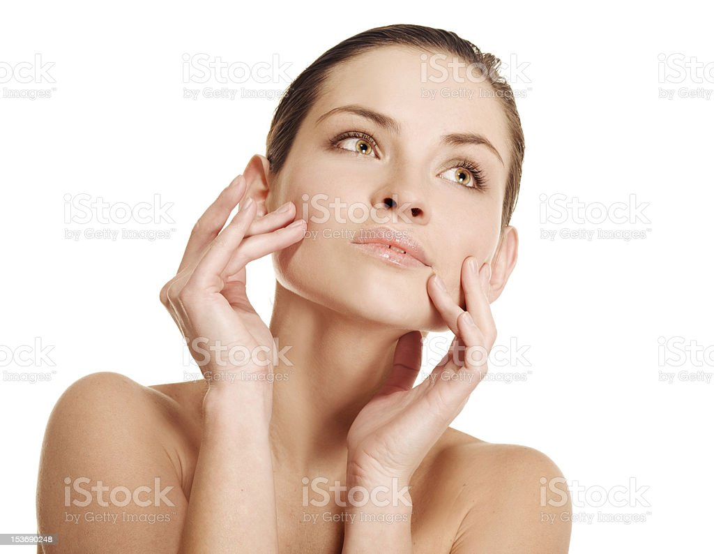 Natural beauty girl with good skin royalty-free stock photo
